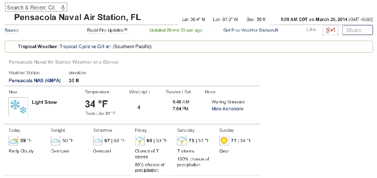 Freezing Weather and Snow in Florida